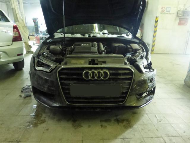 Фото ремонта кузова Ауди
