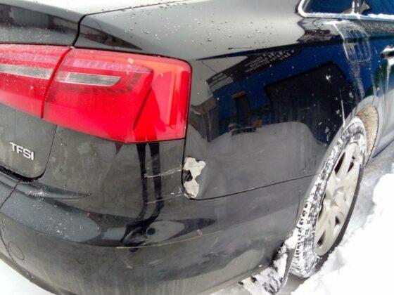 Ремонт заднего бампера Audi