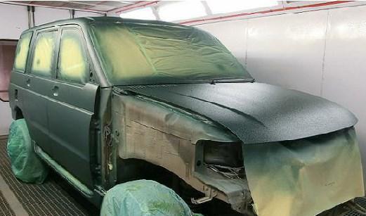 Фото процесса покраски кузова Раптор в Петрозаводске