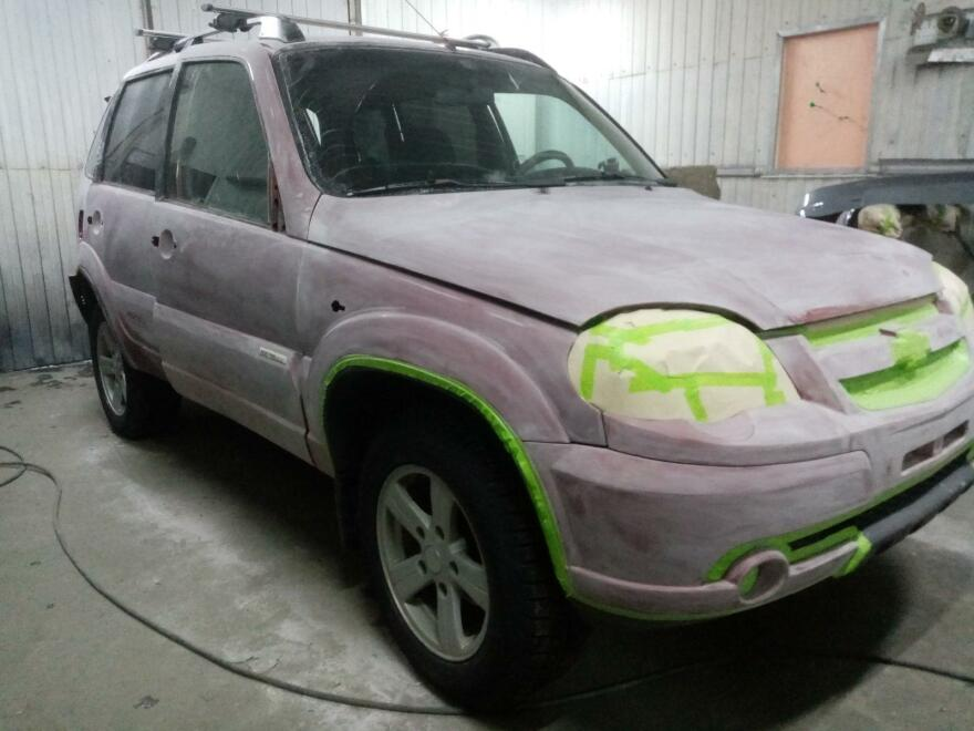 Фото авто подготовленного к покраске Раптор