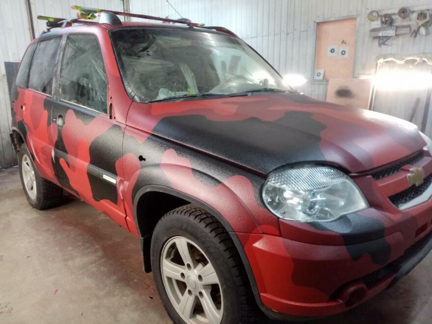 Фото Chevrolet после покраски раптор